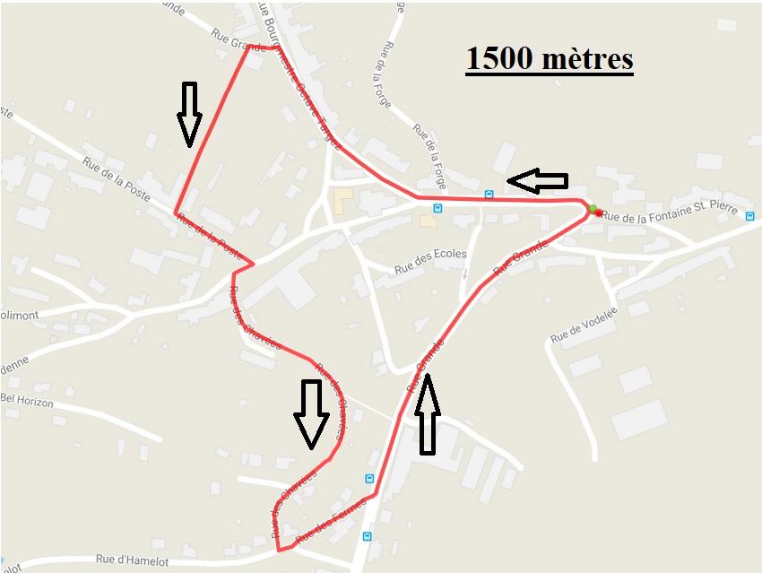 1500 metres