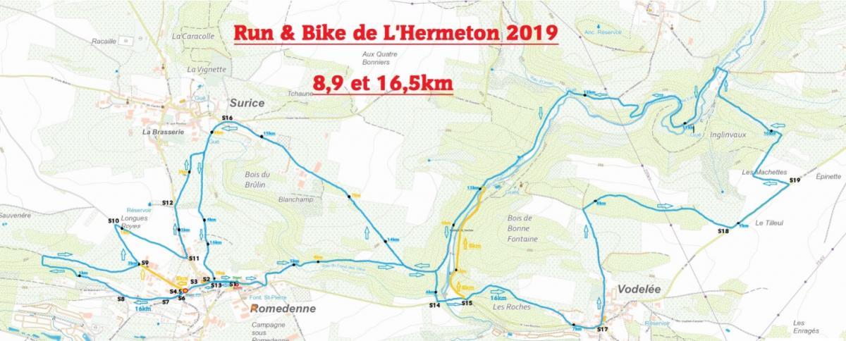 Plan ign run bike 8 et 16km 2019 petit