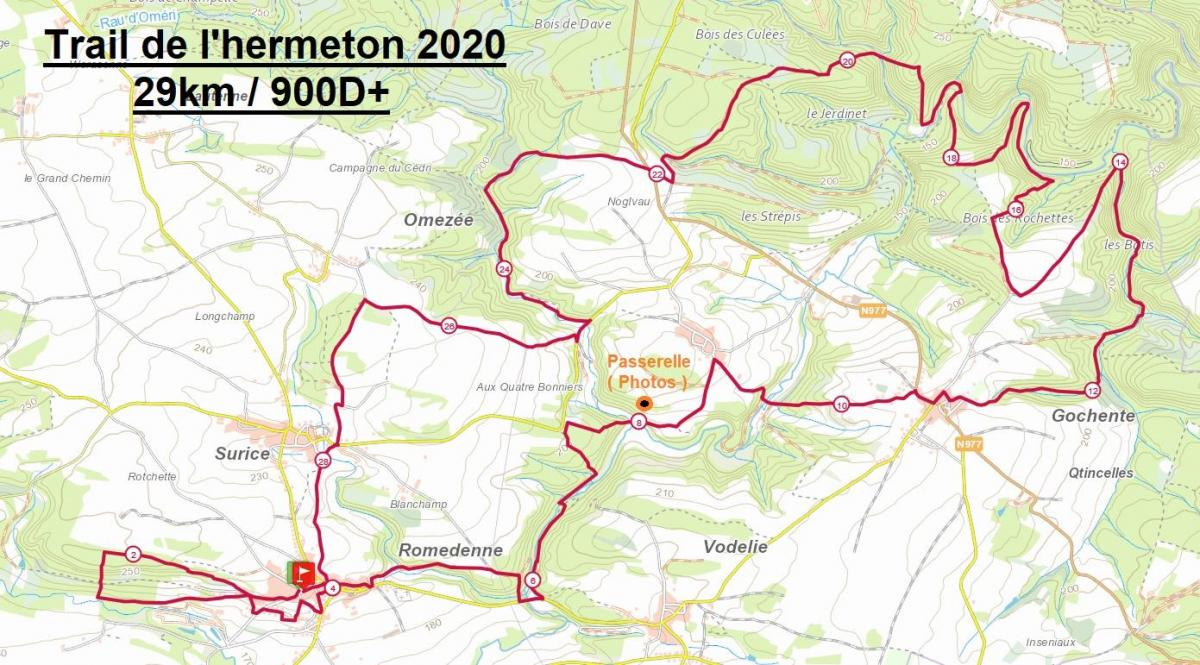 Trail 2020 romedenne 29km